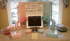reveal party ideas | And everyone had to vote for what they thought little Baby 2 was going ...