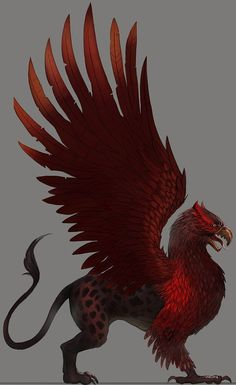 Valour, the War Griffin who Marcus has forged a bond with during the Purge of Wrath All Mythical Creatures, Fantasy Creatures, Animal Paintings, Animal Drawings, Griffin Drawing, Griffin Mythical, Griffin Tattoo, Beast Creature, Cool Sketches