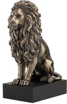 Lion Sculpture Modern Bronze Art Decorative Statue by Veronese Design Animal Statues, Animal Sculptures, Pedestal, Statue Tattoo, Greek Statues, Lion Art, Art Sculpture, Animal Decor, Animals