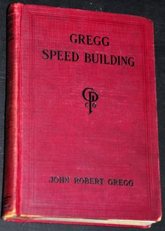 1930s Vintage Gregg Speed Building Shorthand Book. by RustyCurios