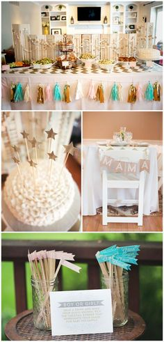 Welcome the soon-to-be star of the family with this Twinkle, Twinkle Little Star baby or sprinkle shower theme. Throwing a DIY celebration at home is a breeze with a theme like this one! Complete with sweet treats, baby shower games, and simple pink-and-blue decor, this gender-neutral baby shower is a great way to make the multiple-time mom-to-be feel special (and give her a break!).