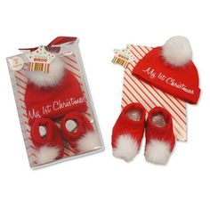 Baby Hat Bootie Set - My 1st Christmas Listing in the Gifts & Toys,Baby…