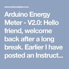 Arduino Energy Meter - V2.0: Hello friend, welcome back after a long break. Earlier I have posted an Instructables on Arduino Energy Meter which was mainly designed to monitor the power from the solar panel (DC Power) in my village. It became very popular on the internet, lots … Prototype Board, Ac Wiring, Electronic Circuit Design, Esp8266 Wifi, Hall Effect, Power Energy, Circuit Board, Arduino, Monitor