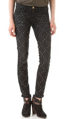 I can't wait to make tons of studded jeans over break!!! Current/Elliott The Ankle Skinny Jeans
