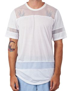 Bleach Hockey Mesh Tee White http://pasar-pasar.com/collections/bleach/products/bleach-hockey-mesh-tee