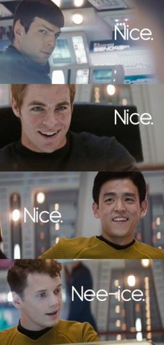 Chekov you cutie! Though I think Spock would probably have said something more like 'fascinating'