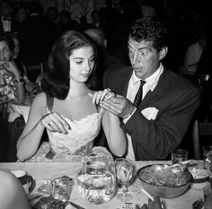 Dean Martin and Pier Angeli 1955 | From a unique collection of black and white photography at https://www.1stdibs.com/art/photography/black-white-photography/