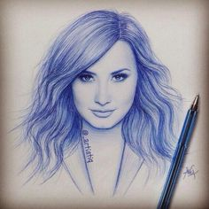 Demi Lovato drawing, awesome, This looks amazing.