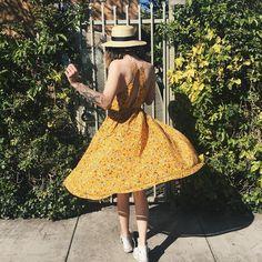 dress, yellow, and acacia image