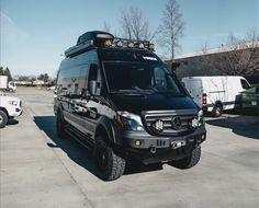 Mercedes Sprinter 4x4 Camper, Sprinter Rv, Mercedes Truck, Stealth Camper Van, 4x4 Camper Van, Camper Life, Off Road Camping, Van Camping, Ambulance