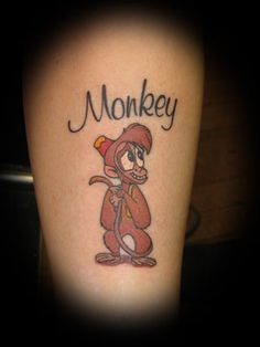 530e4ffab Small Cute Monkey Tattoo- I'd replace Isabella with my daughter's ...