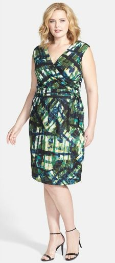 green wrap dress plus size