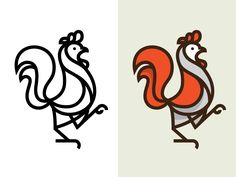 Rooster Mark by Nick Slater. Possible Rooster Watermark? Typography Logo, Graphic Design Typography, Branding Design, Rooster Logo, Galo, Animal Logo, Grafik Design, Creative Logo, Cool Logo