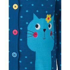 Buy Frugi Organic Girls' Betsy Cat Cardigan, Navy Online at johnlewis.com