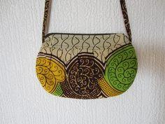 sac plissé wax jaune vert marron (envoi 0€) : Sacs bandoulière par cewax