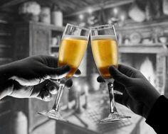 champagne toast ..