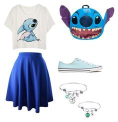 Designer Clothes, Shoes & Bags for Women Teen Fashion Outfits, Mode Outfits, Girl Outfits, Skater Outfits, Fashion Dresses, Lilo E Stitch, Cute Stitch, Cute Disney Outfits, Cute Comfy Outfits