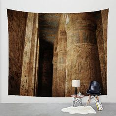 Wall Tapestry Egyptian Temple Photography Fabric by BoofunkPrints