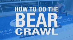 BEAR CRAWL - Sculpt your core, strengthen your shoulders and legs, and boost mobility and coordination with this total-body muscle builder. Follow along with Jabari in the video above as he demonstrates perfect form.   #GetFit2StayHealthy #FitnessTip