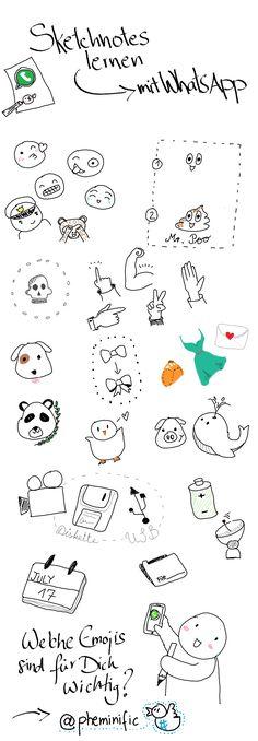 Sketchnotes lernen mit Whatsapp