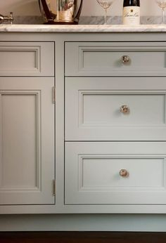 The Empire Door was 1st designed for our Prairie Line. Here it takes on a very different look-finished in Farrow & Ball's Manor House Gray