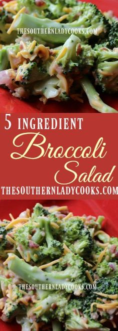 This Easy Broccoli Salad is only 5 ingredients. This recipe is super simple and perfect for when you are in an hurry this it a wonderful side dish.