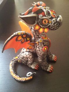Custom Baby Dragon standing by MakoslaCreations on Etsy, $100.00