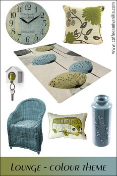 Greyish Blue and Olive Green Lounge