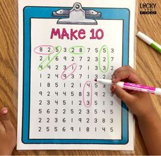 Give your students a chance to find different ways to make sums with this low-prep activity! Lots of options are included!