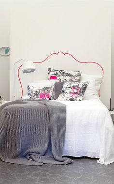 Vosgesparis: Make your own bedhead - {with a stencil for download from VT Wonen}