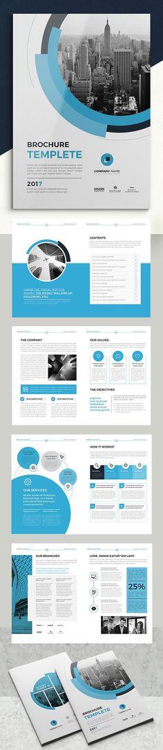 Creative Business Brochure Template #brochuretemplate #catalogdesign #booklet #annualreport #printdesign #psdtemplate