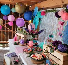 Ibiza garden party feest. sweettable.