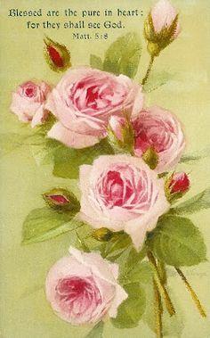 Free Vintage Roses Printables