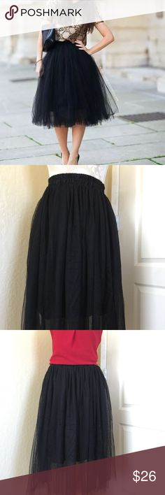 """Black Ballet Tule Too-too Black Ballet Tule Too-Too. 28"""" in length, stretches up to 44"""" at the waist. 24""""Unstretched. Skirts A-Line or Full"""