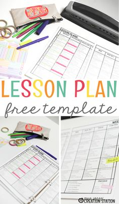 Use this free editable lesson plan template for your preschool, prek, kindergarten or first grade lesson plans.