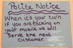 A Polite Cell Phone Notice