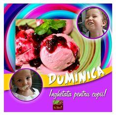 La mulţi ani, copiilor! Duminică, 5 iunie, toţi copiii (mai mici de 14 ani) care vin cu părinţii să ia masa la Restaurant La Nuci primesc din partea noastră câte o îngheţată delicioasă de casă! Rezervări la 0761.909.431 #ziuacopiilor #inghetata #homemade #lanuci #promo