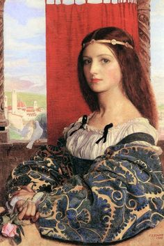 """Molly, Duchess Of Nona (Maurice Howlett's 'Little Novel Of Italy)"" (1905) by Frank Cadogan Cowper (1877-1958)."