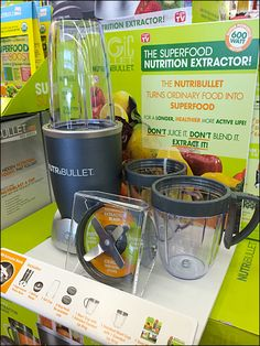 Either Nutri-Bullet accessories are highly pilfered, or these display components are nut-and-bolted in place to preserve the display arrangement. Pos Design, Security Lock, Counter Display, Product Display, Small Appliances, Ninja, Bullet, Promotion, Projects To Try