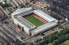 Anfield Road, Liverpool FC. capacity: 45,276