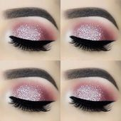For the love of glitter ✨ – Brows: Eyeko London Brow Game Strong all-in-one br… - Makeup Tips Tutorials Makeup Eye Looks, Pink Eye Makeup, Eye Makeup Tips, Cute Makeup, Gorgeous Makeup, Makeup Kit, Makeup Inspo, Makeup Trends, Grey Makeup