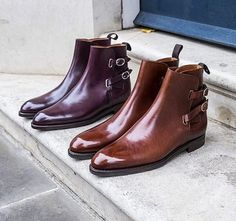 FitzPatrick Footwear by. - Bespoke Makers - Bespoke Makers by Ryo Mens Shoes Boots, Mens Boots Fashion, Shoe Boots, Business Casual Men, Mens Style Guide, Formal Shoes, British Style, Loafer Shoes, Chelsea Boots