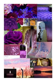 Mood board for 2018 ultra violet.  For photos please visit the blog. Kaavoihin kangistumatta: Paluu todellisuuteen