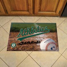 Oakland Athletics Scraper Mat 19x30 - Ball