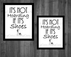 PRINTABLE wall art Shoes Print Black and White by Raising3Cains