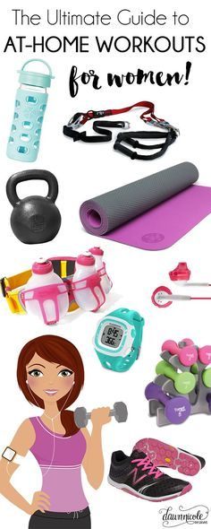 The Ultimate Guide to the The Best At-Home Workouts for Women. All my favorite workout DVDs and gear! | bydawnnicole.com