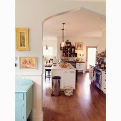 From Kelly Rae Roberts Blog - love the shape of the doorway