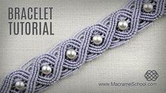 Eternal Wave Bracelet Tutorial in Vintage Style   Macrame School