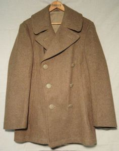 WWII US Army Jacket Wool Peacoat 1943 dated  - great condition Military Uniform