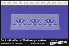 Schablone Bordüre Blume Lilie Ornament - MB08 von Lunatik-Style via dawanda.com